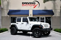 Vehicle Details and Information - 2008 Jeep Wrangler Unlimited X 4-Door Unlimited, White - Driving Emotions