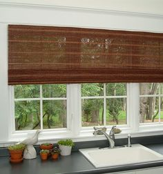 Bamboo Blinds Woven Shades Custom Woven wood Shades Bamboo shades Cordless or Cord Blackout option Rattan shades Farmhouse roman shades by PeninsulaDesigns on Etsy Diy Blinds, Fabric Blinds, Curtains With Blinds, Valance, Privacy Blinds, Sheer Blinds, Patio Blinds, Blinds Ideas, Window Curtains