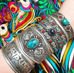 Beautiful handmade Cuffs from Nepal ॐ www.ohmboho.com ॐ