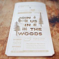 Amazing 3D Laser Cut Woodland Party Invitation!