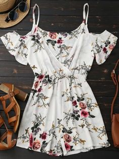 SHARE & Get it FREE | Cami Floral Plunge Romper - Floral SFor Fashion Lovers only:80,000+ Items • New Arrivals Daily Join Zaful: Get YOUR $50 NOW!