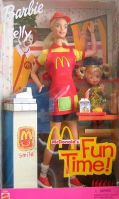 Barbie and Kelly McDonald's Fun Time! Dolls Set (2001) by McDonald's Corp/Mattel, http://www.amazon.com/dp/B000Y8T1YE/ref=cm_sw_r_pi_dp_fHEZrb1P7W50E