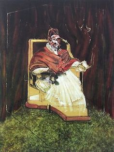 FRANCIS BACON (1909-1992) Francis Bacon has a distinctive style as a figure painter. In his mature style, developed in the 1950s, the paintings include images of either friends or lovers, or images of