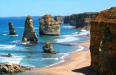 The Twelve Apostles — limestone stacks along the spectacular Great Ocean Road in Victoria, Australia.