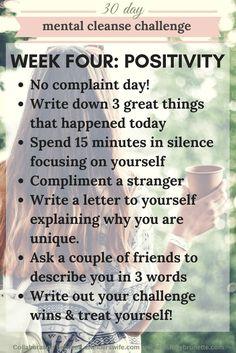 Mental Cleanse Challenge: Week Four   http://www.awelderswife.com