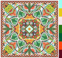 Modelo Cuadrado Geométrico De Punto De Cruz Bordado Tradicional Ucraniano, Que Como Hecho A Mano Y De La Creación, Pixel Ornamental Ilustración Vectorial Ilustraciones Vectoriales, Clip Art Vectorizado Libre De Derechos. Image 37089739.