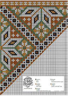 Bunad, Smykker, vev & rosemaling: Bringeduk i kobber-toner og mosegrønt. Needlepoint Designs, Needlepoint Pillows, Loom Beading, Beading Patterns, Cross Stitch Embroidery, Cross Stitch Patterns, Scandinavian Embroidery, Bargello Quilts, Bead Crochet Rope