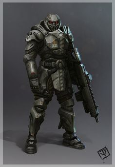 ARMOR: High Poly , Low Poly, UV's, Bakes and Textures by Pablo Vicentin  BR rifle, feet armor (highpoly) and Techsuit probided by 343 Industries.