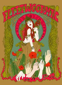 Giclee Art Prints-Stampa giclée Poster 18 x 12 pollici Fleetwood Mac Vintage Music Posters, Retro Poster, Poster Vintage, Rock Posters, Hippie Posters, Movie Posters, Art Hippie, Kunst Poster, Vintage Rock