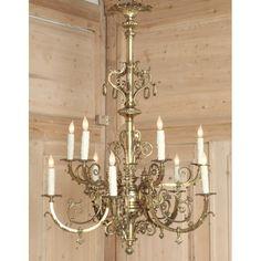 Antique Lighting | Antique Chandeliers | Antique 'Gasolier' Chandelier | www.inessa.com