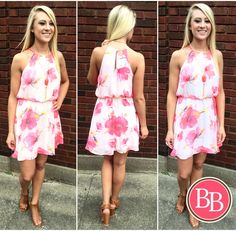 Start your weekend off the {bright} way!! ☀️#bbgirls #dress #bright #weekend www.brandisboutiqueshop.co