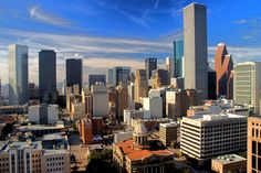 A beautiful high-definition image of Downtown Houston