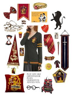 """""""Gryffindor Pride!"""" by cora-mccutcheon ❤ liked on Polyvore"""