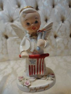 Lefton Independence 4th Of July Little Boy Number 2300 Decorative Collectibles Lefton Figurines