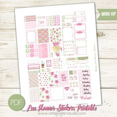 Shabby Chic Planner Stickers | Free for personal use, suitable for Mini Happy Planner