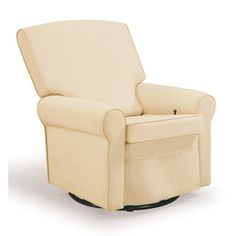 Shermag Square Back Upholstered Reclining Glider in Oyster...I wonder if this comes in a different color?