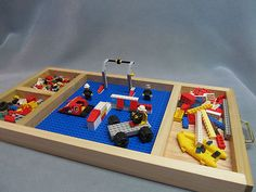 Large Lego Tray / Table with Base Plate for Standard Lego Bricks Handmade LOOK!