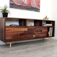 Walnut Console TV Stand Media Console Wood Furniture Console ... More