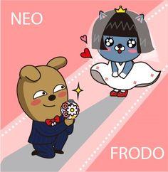 일러로 직접 딴것 상업용도 사용 X +응용작 Kakao Friends, Kawaii, Line Friends, Cute Illustration, Emoticon, Phone Backgrounds, Cute Designs, Sanrio, Singing