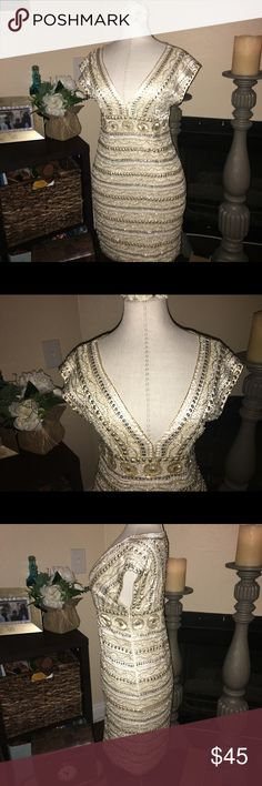 Guess by Marciano dress. Gold. Guess dress. Used once for a 15th birthday party. Excellent condition. Guess by Marciano Dresses