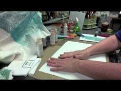 ▶ Gelli Printed Fabric -- Part II - YouTube