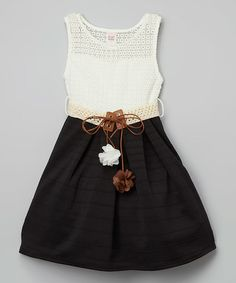 Another great find on #zulily! Black Belted A-Line Dress - Girls #zulilyfinds