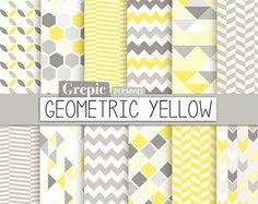 Papier numérique géométrique : pack papier numérique  par Grepic