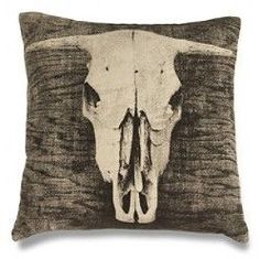 Bovine Cowskull Pillow