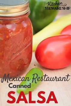 This homemade canned salsa recipe tastes just like our favorite Mexican restaurant's. It's simple and easy to do in the food processor and can be mild, medium or spicy hot! Canning low-acid foods is easy with these instructions! Salsa Canning Recipes, Canning Salsa, Fresh Tomato Salsa Recipe For Canning, Hot Sauce Recipe For Canning, Canned Tomato Salsa, Freezing Tomato Sauce, Hot Salsa Recipes, Canned Tomato Recipes, Canning Vegetables