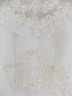 Vintage white wedding gown lace