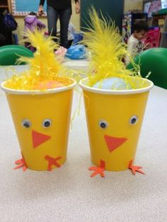 Chick craft easter egg cup Terrific Preschool Years