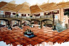 DECORACIÓN: Proyecto de patio porticado para hotel (Costa Brava) - Acuarela