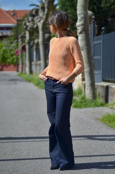 wide leg pants 2017 and knit top 2017 Fall Fashion Trends, Winter Fashion Outfits, Boho Fashion, Autumn Fashion, Fashion Blogs, Pear Shape Fashion, Street Style 2017, Girl With Curves, Style Guides