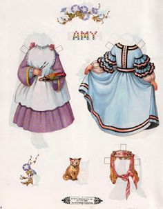 Free Printable Little Women Paper Dolls: Clothes for Amy