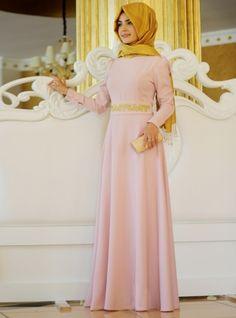 Robe brodé - Poudre - Pinar Sems