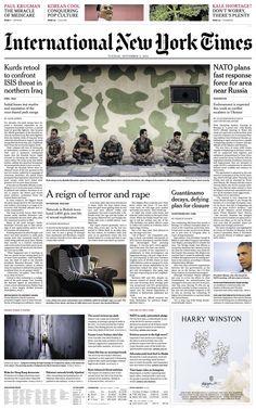 Newspaper Design, September 2, International News, Reign, No Worries, No Response, Pop Culture, How To Plan, Magazines