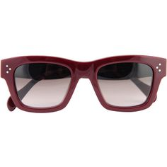 Céline Original sunglasses (2.170 DKK) ❤ liked on Polyvore featuring accessories, eyewear, sunglasses, glasses, celine, red, celine eyewear, celine sunglasses, uv protection sunglasses and acetate glasses