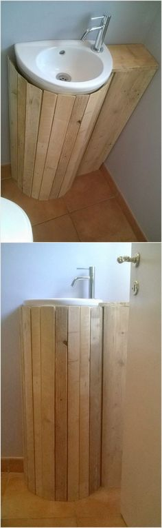 Pallet Bathroom Sink