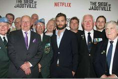 Jamie Dornan at Jadotville Premiere in Dublin - Sept 2016 Jamie Dornan, The Siege, Fifty Shades Darker, Beautiful One, Netflix, Suit Jacket, Actors, Twitter, Fifty Shades