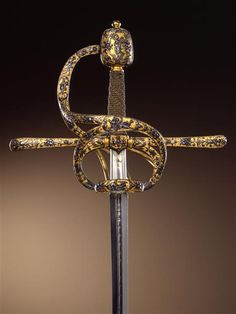 The ceremonial weapon of Rudolf II the Elector Christian II of Saxony, 1610 in Prague