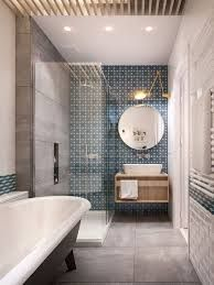 Image result for bathroom feature tiles blue