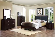 Wood 7 Piece Bedroom Set by Homerica. Get your Wood 7 Piece Bedroom Set at Price Busters Furniture, Baltimore MD furniture store. Modern Bedroom, Wood Bedroom Sets, Furniture Sets, Bedding Sets, Furniture, Bedroom Set, Classic Bedroom, Home Decor, Bedroom Furniture
