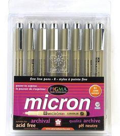 Pigma® Micron Ink PensPigma® Micron Ink Pens,