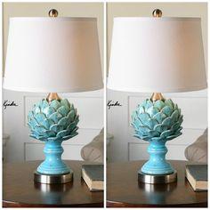 blue artichoke table lamp