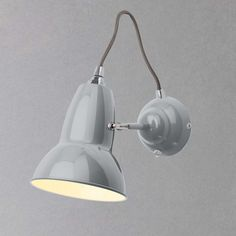 Buy Dove Grey Anglepoise Original 1227 Wall Light from our Wall Lighting range at John Lewis & Partners. Small Kitchen Lighting, Anglepoise Lamp, Dove Grey, Retro Aesthetic, Design Museum, Light Decorations, Wall Lights, Chrome, Bulb