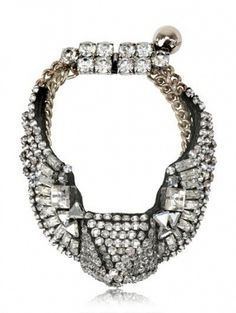 Shourouk - Swarovski Crystal Brass Chain Bracelet by SHOUROUK-this calls for an o m gaga