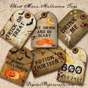 Halloween Digital Printable Tags - via @Craftsy