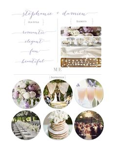 Mood Board from Moana Events #wedding #moodboard #inspiration #weddingstyle…