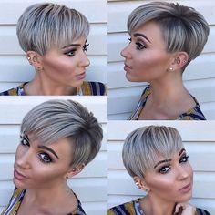 Haircut For Older Women, Short Hair Cuts For Women, Pixie Cut Styles, Short Hair Styles, Blonde Pixie Cuts, Brunette Pixie Cut, Best Short Haircuts, Trending Haircuts, Short Pixie