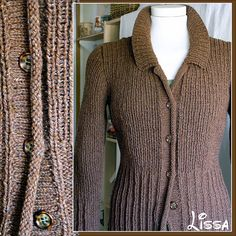 Ravelry: # 17 Brown jacket with pockets pattern by Lana Grossa